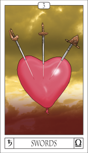 Card For The Day The Three Of Swords