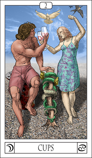 Card Of The Day: The 2 Of Cups.