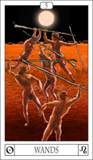 Card Of The Day: 5 Of Wands
