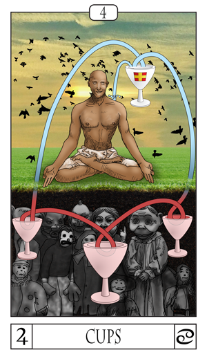 Card Of The Day:  The 4 Of Cups